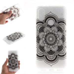 Pattern Printing IMD TPU Protective Case for Xiaomi Mi A2 / Mi 6X - Beautiful Flower