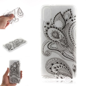 Pattern Printing IMD TPU Protective Case for Xiaomi Mi A2 / Mi 6X - Paisley Flower