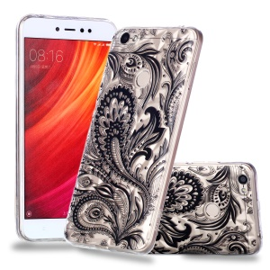 Pattern Printing Embossed 3D Diamond Surface TPU Shell for Xiaomi Redmi Note 5A Prime / Redmi Y1 - Paisley Pattern
