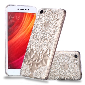 Pattern Printing Embossed 3D Diamond Surface TPU Phone Case for Xiaomi Redmi Note 5A Prime / Redmi Y1 - Mandala Flower