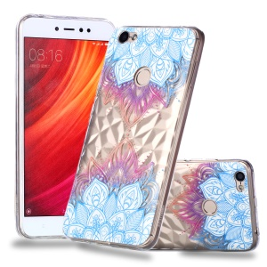 Pattern Printing Embossed 3D Diamond Surface TPU Soft Case for Xiaomi Redmi Note 5A Prime / Redmi Y1 - Lotus