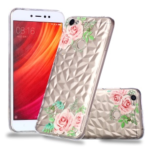 Pattern Printing Embossed 3D Diamond Surface TPU Cover Shell for Xiaomi Redmi Note 5A Prime / Redmi Y1 - Pink Flowers