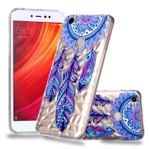 Pattern Printing Embossed 3D Diamond Surface TPU Phone Shell Case for Xiaomi Redmi Note 5A Prime / Redmi Y1 - Dream Catcher