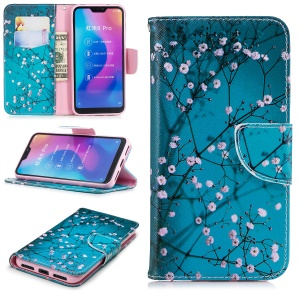 Pattern Printing Wallet Stand Leather Phone Shell for Xiaomi Mi A2 Lite / Redmi 6 Pro - Wintersweet