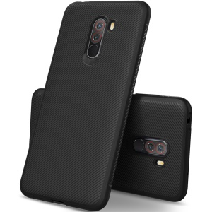 Twill Texture TPU Case for Xiaomi Pocophone F1 / Poco F1 (India) - Black