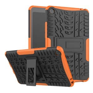 Anti-slip PC + TPU Hybrid Protection Case with Kickstand for Xiaomi Mi Pad 4 - Orange