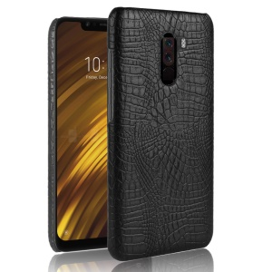Crocodile Texture Leather Coated Hard PC Case for Xiaomi Pocophone F1 / Poco F1 (India) - Black