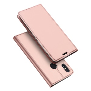 DUX DUCIS Skin Pro Series Flip PU Leather Stand Phone Cover for Xiaomi Mi Max 3 Pro - Rose Gold