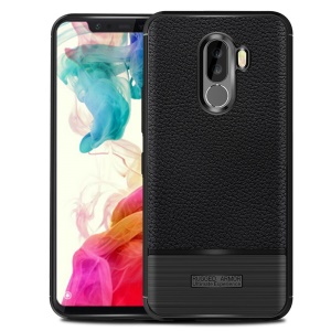Litchi Texture Brushed TPU Cell Phone Case for Xiaomi Pocophone F1 / Poco F1 (India) - Black