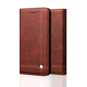 Auto-absorbed Crazy Horse Vintage PU Leather Cell Phone Cover for Xiaomi Pocophone F1 / Poco F1 (India) - Coffee