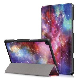 Pattern Printing Tri-fold Stand Leather Smart Shell for Xiaomi Mi Pad 4 Plus - Starry Night
