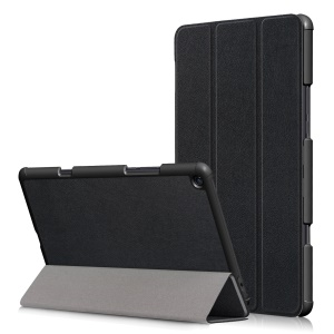 Tri-fold Stand PU Leather Auto Wake/Sleep Case for Xiaomi Mi Pad 4 Plus - Black