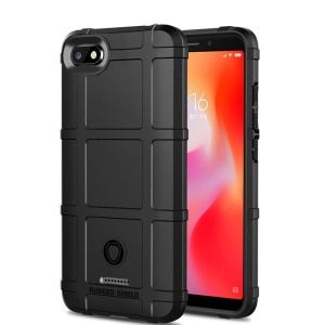 Rugger Shield Anti-shock Square Grid Texture Soft TPU Phone Case for Xiaomi Redmi 6A - Black