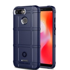 Scudo Ruggine Anti-shock Texture Quadrata Griglia Morbida TPU Phone Shell Per Xiaomi Redmi 6 - Blu