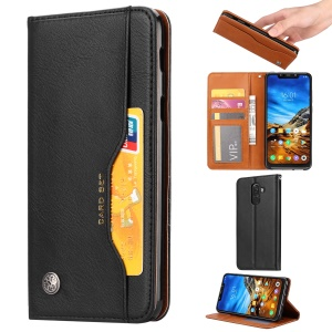 Auto-absorbed Leather Stand Wallet Phone Case for Xiaomi Pocophone F1 / Poco F1 (India) - Black