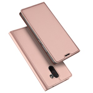 DUX DUCIS Skin Pro Series Cover [Auto-absorbed] Leather Stand Shell for Xiaomi Pocophone F1 / Poco F1 (India) - Rose Gold
