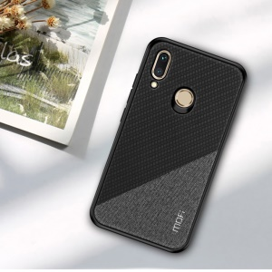 MOFI Honor Series Bi-color Splicing Woven Texture PU Leather Coated PC + TPU Hybrid Anti-slip Case for Huawei Honor Play - Black