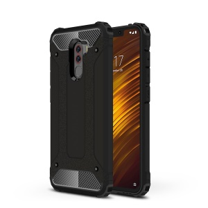 Armor Guard Plastic + TPU Hybrid Protector Case for Xiaomi Pocophone F1/Poco F1 (India) - Black