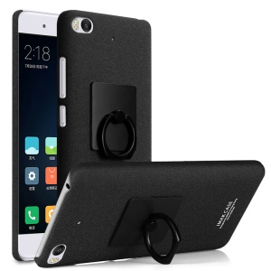 IMAK Matte Hard PC Case with Ring Kickstand for Xiaomi Mi 5s - Black