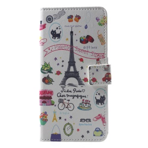 Pattern Printing Wallet Stand Leather Phone Case Cover for Xiaomi Pocophone F1 / Poco F1 (India) - Palette Sweet Street