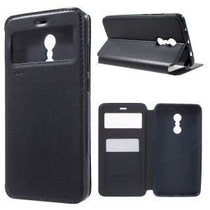 ROAR KOREA Noble Leather View Window Magnetic Case for Xiaomi Redmi Note 4 - Black