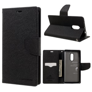 MERCURY GOOSPERY Fancy Diary Leather Wallet Cover for Xiaomi Redmi Note 4 - Black