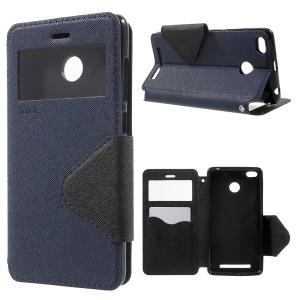 ROAR KOREA Magnetic Leather Stand Case for Xiaomi Redmi 3S - Dark Blue