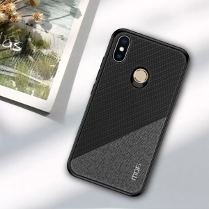 MOFI Honor Series Second Generation Anti-Slip Hybrid Phone Case for Xiaomi Mi A2 Lite/Redmi 6 Pro ( PU+PC+TPU) - Black