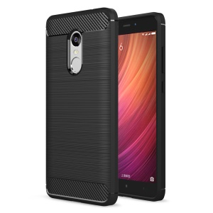 Carbon Fibre Brushed TPU Case for Xiaomi Redmi Note 4 / Note 4X - Black
