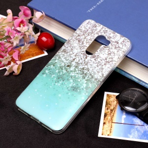 Pattern Printing Matte Surface IMD TPU Gel Case for Xiaomi Pocophone F1 / Poco F1 in India - Sequins