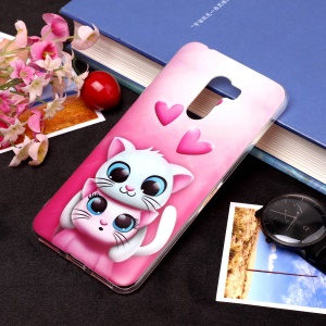 Pattern Printing Matte Surface IMD TPU Protective Case for Xiaomi Pocophone F1 / Poco F1 in India - Cat and Heart