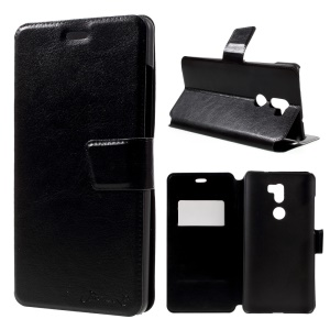 BOSILANG Card Holder Leather Stand Case for Xiaomi Mi 5s Plus - Black