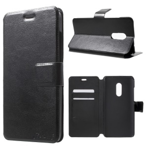 BOSILANG Card Holder Leather Stand Case for Xiaomi Redmi Note 4 - Black