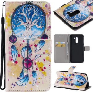 Pattern Printing Light Spot Decor Leather Wallet Cover Case for Xiaomi Pocophone F1 / Poco F1 in India - Dream Catcher