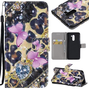 Pattern Printing Light Spot Decor Leather Wallet Case for Xiaomi Pocophone F1 / Poco F1 in India - Butterfly Pattern