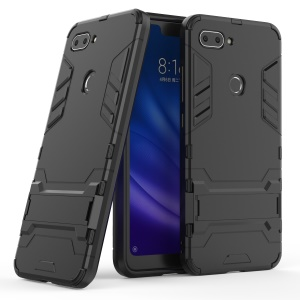 Cool Guard Kickstand PC TPU Hybrid Case for Xiaomi Mi 8 Lite / Xiaomi Mi 8 Youth (Mi 8X) - Black