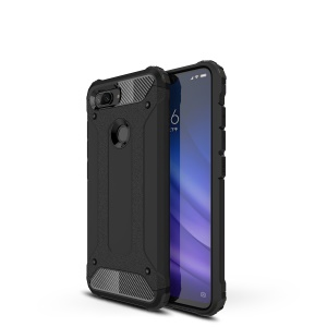 Armor Guard Plastic + TPU Hybrid Phone Accessory Case for Xiaomi Mi 8 Lite / Mi 8 Youth (Mi 8X) - Black