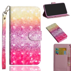 Pattern Printing Cell Phone Leather Wallet Case for Xiaomi Redmi Note 6 Pro - Colorized Pattern