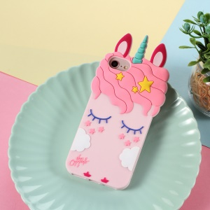 3D Unicorn Pattern Silicone Back Case for iPhone 8/7 4.7 inch