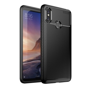 Beetle Series Carbon Fiber TPU Protection Cellphone Case for Xiaomi Mi Max 3 - Black