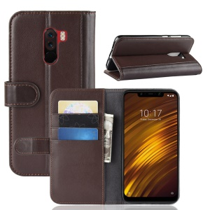 Split Leather Protection Case Shell for Xiaomi Pocophone F1 / Poco F1 (India) - Brown