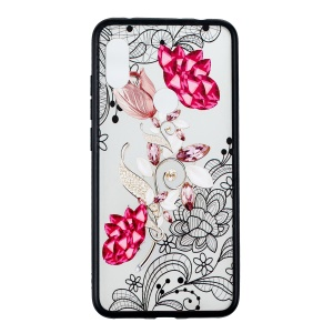 For Xiaomi Redmi Note 6 Pro Lace Embossment Pattern Flower Pattern Hybrid Case Cover - Vivid Flower