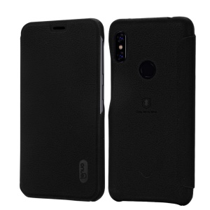 LENUO Ledream Series Flip Leather Mobile Case with Card Slot for Xiaomi Redmi Note 6 Pro - Black