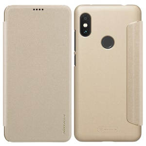 NILLKIN Sparkle Series Smart PU Leather Mobile Flip Shell for Xiaomi Redmi Note 6 Pro - Gold