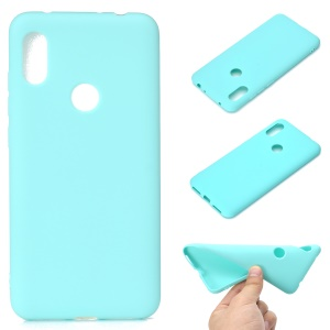Solid Color Soft Matte TPU Protection Casing for Xiaomi Redmi Note 6 Pro - Cyan