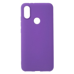 Skin-touch Matte TPU Phone Accessory Case for Xiaomi Mi A2 Lite / Redmi 6 Pro (China) - Purple