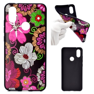 For Xiaomi Redmi Note 6 Pro Pattern Printing Soft TPU Cell Phone Cover - Colorful Flower