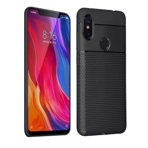 Triangle Pattern TPU Case for Xiaomi Redmi Note 6 Pro - Black