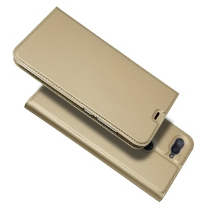 Auto-absorbed Leather Stand Card Holder Cellphone Case for Xiaomi Mi 8 Lite / Mi 8 Youth (Mi 8X) - Gold
