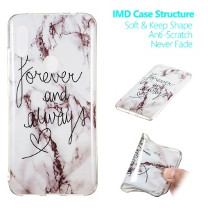Marble Pattern IMD TPU Protective Case for Xiaomi Redmi Note 6 Pro - Style F
